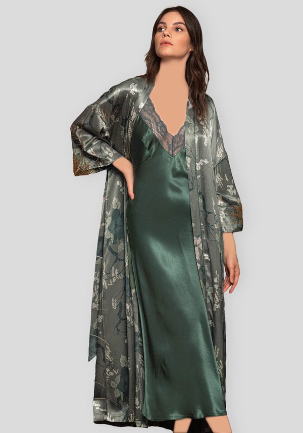 LNGR Satin Robe Set