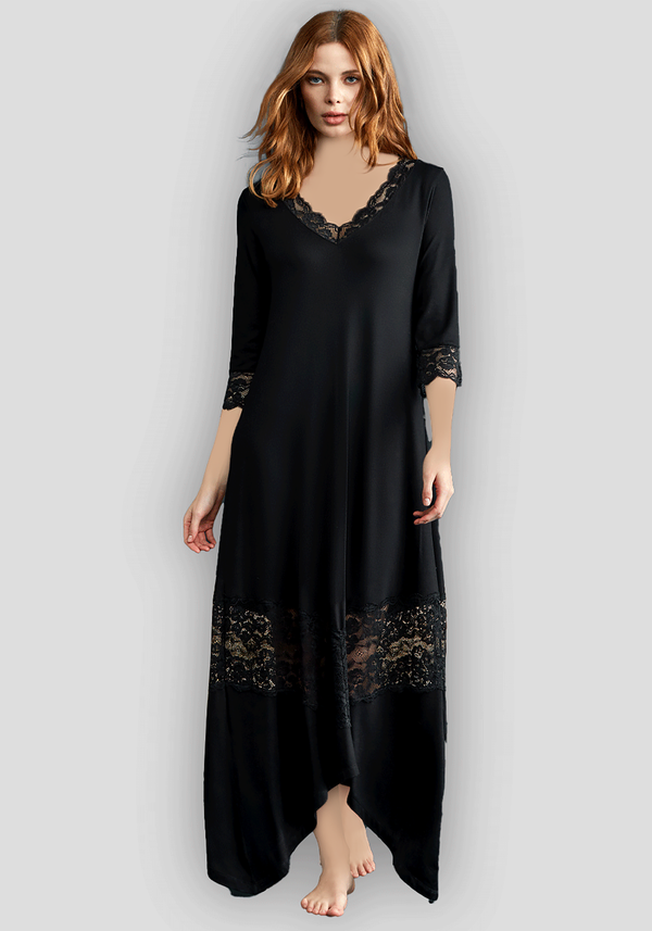 S&L Long Sleeve Long Nighty