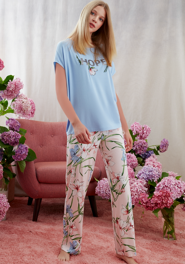 S&L Short Sleeve Pajama - Layla Collection