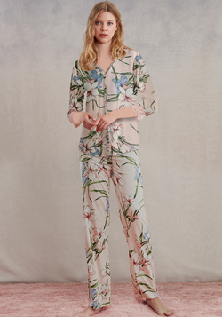 Maternal Collar Button Pajama - Layla Collection
