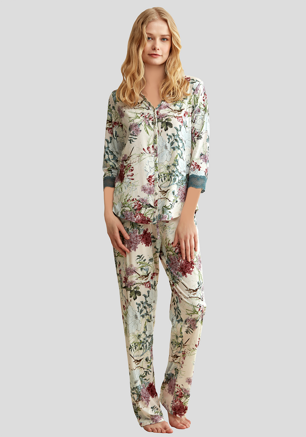 Maternal Collar Long Sleeve Pajama