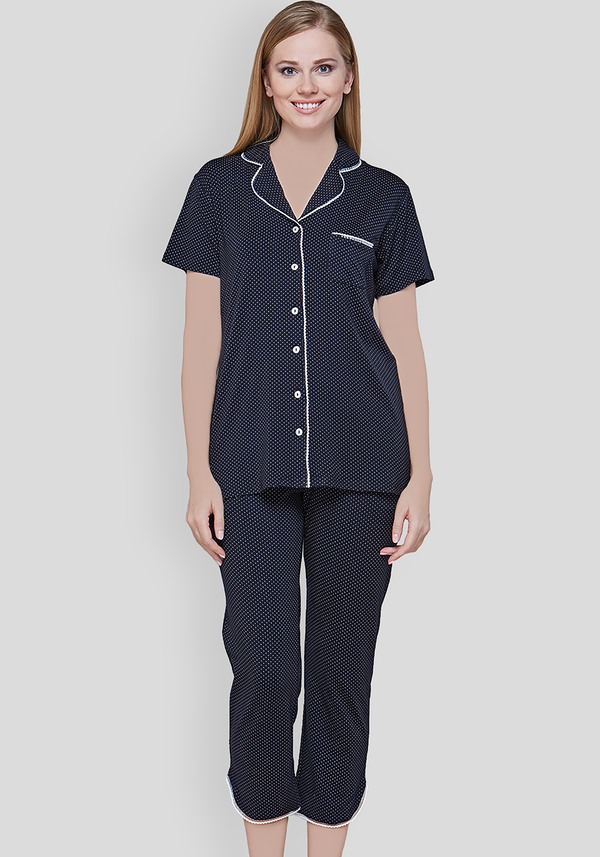 S&L Collar Button Pajama