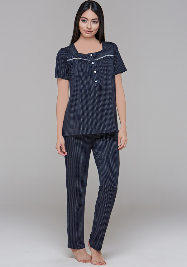 S&L Polka Dots Short Sleeve Pajama - Layla Collection