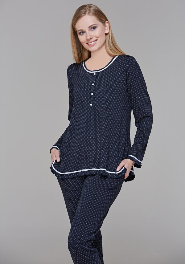 S&L Polka Dots LS Pajama - Layla Collection