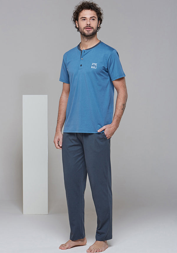 Mens 3 Piece Pajama - Layla Collection