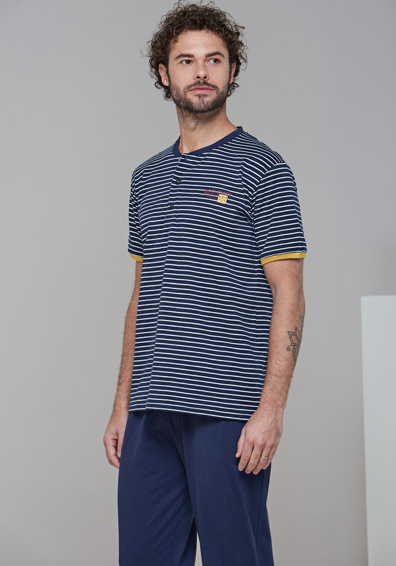 Mens Short Sleeve Pajama - Layla Collection