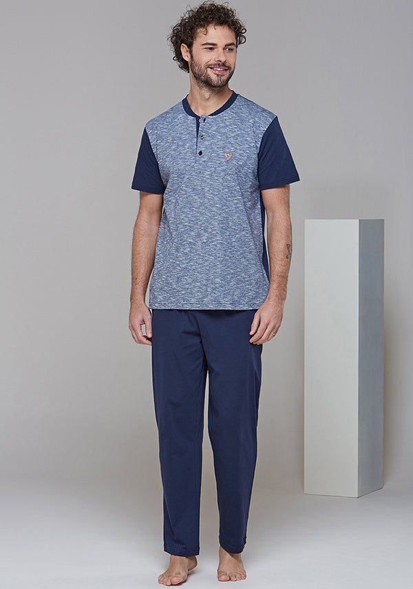 Men Short Sleeve Pajama - Layla Collection