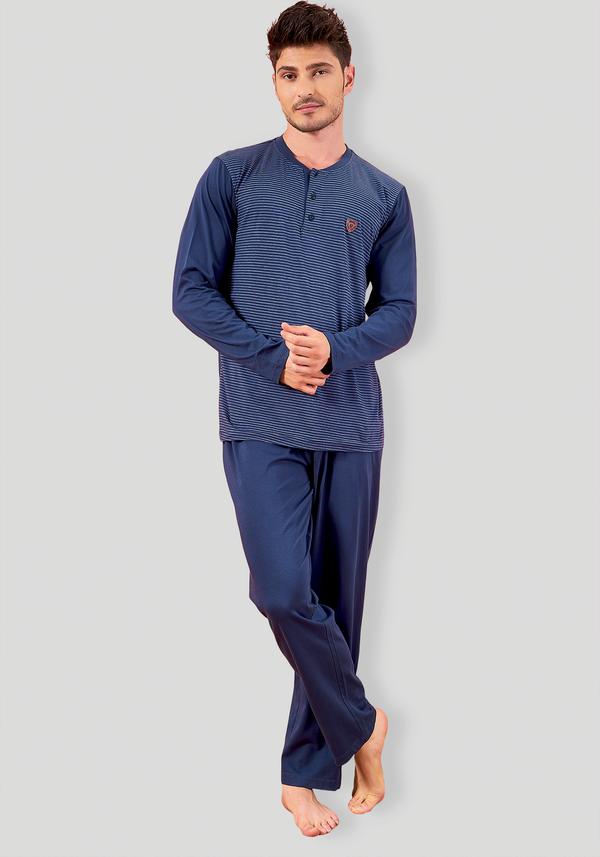 S&L Mens Long Sleeve Pajama