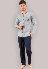 Men's Long Sleeve Button Pajama