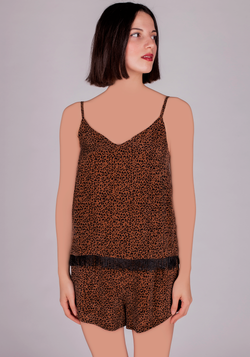 S & L VGN Leopard Short Set