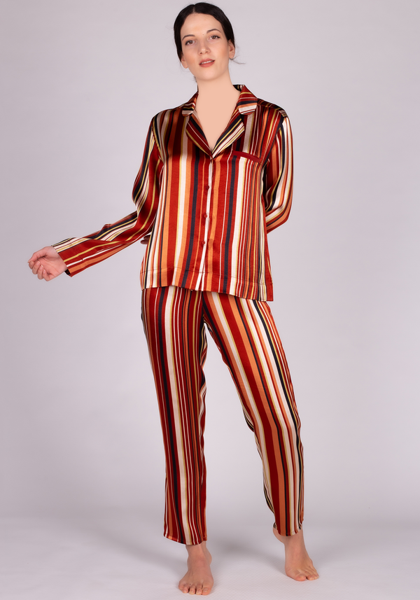 LNGR VGN Satin Long Sleeve Pajama