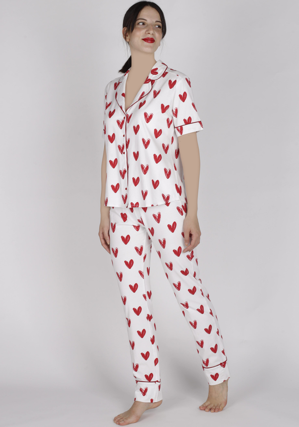 S&L Collar Button Short Sleeve Pajama