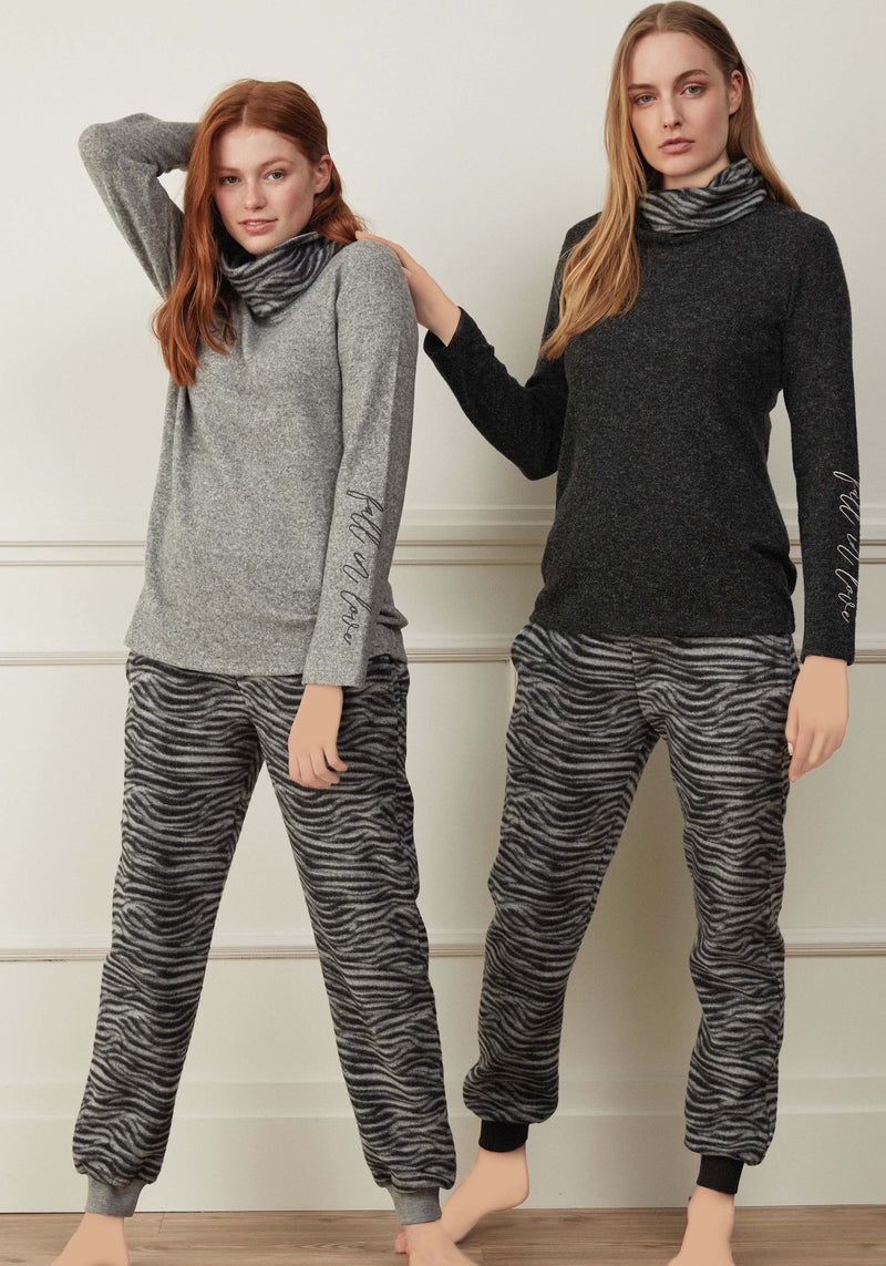 S&L Zebra Long Sleeve Pajama - Layla Collection