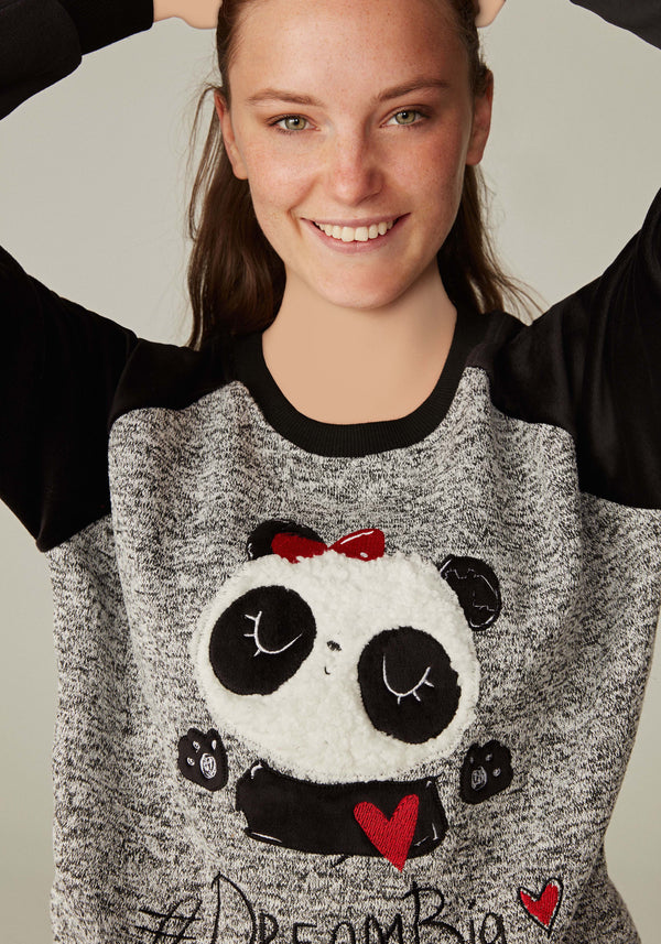 S&L Panda Long Sleeve Pajama - Layla Collection