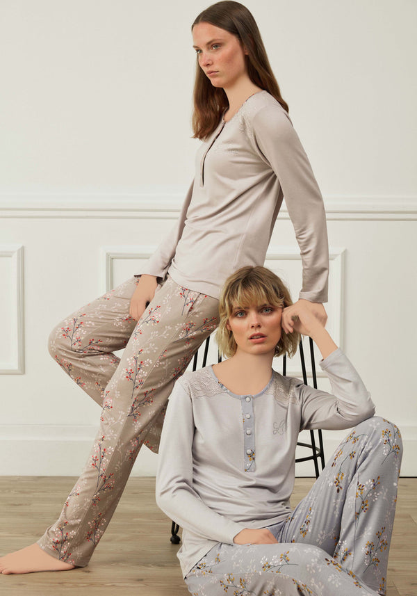 PLUS Long Sleeve Pajama - Layla Collection