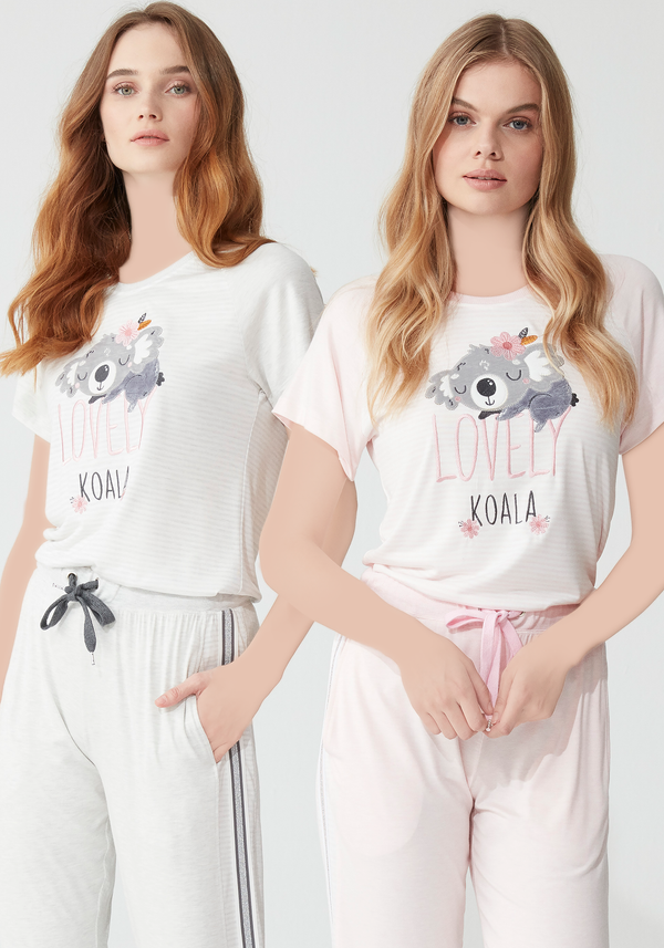 S&L Koala Short Sleeve Pajama - Layla Collection