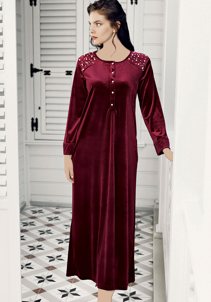 S&L VLR Long Sleeve Long Gown - Layla Collection