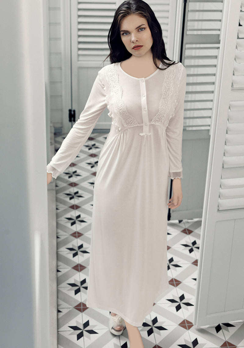 Maternal Long Robe Set - Layla Collection