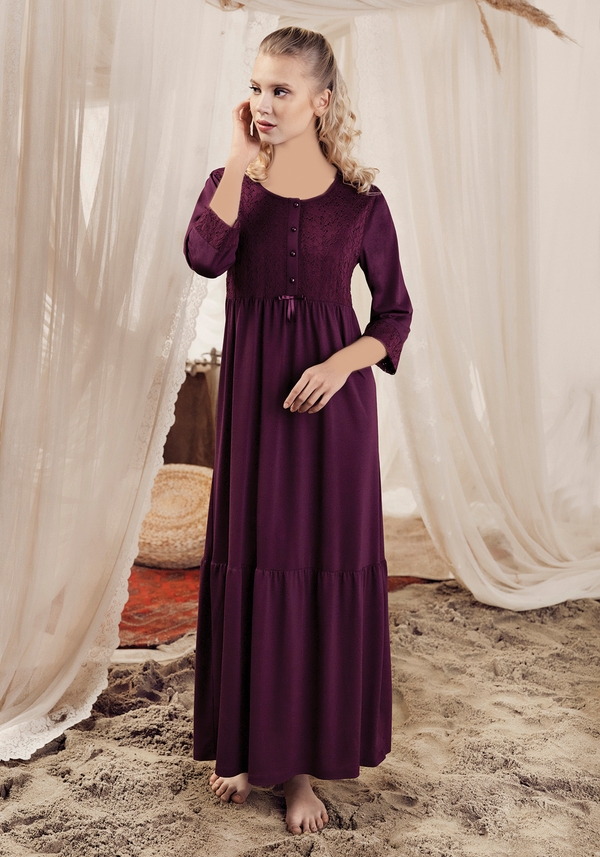 Maternal Long Sleeve Nighty - Layla Collection