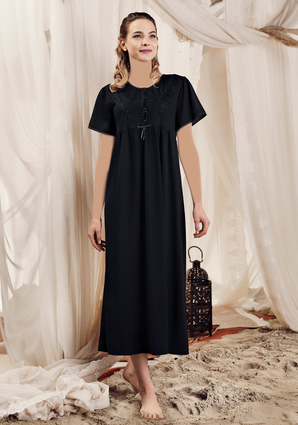Maternal Long Nighty - Layla Collection