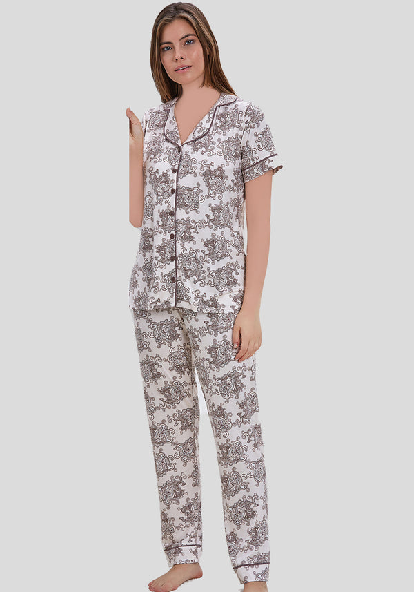 PLUS Collar Button Short Sleeve Pajama