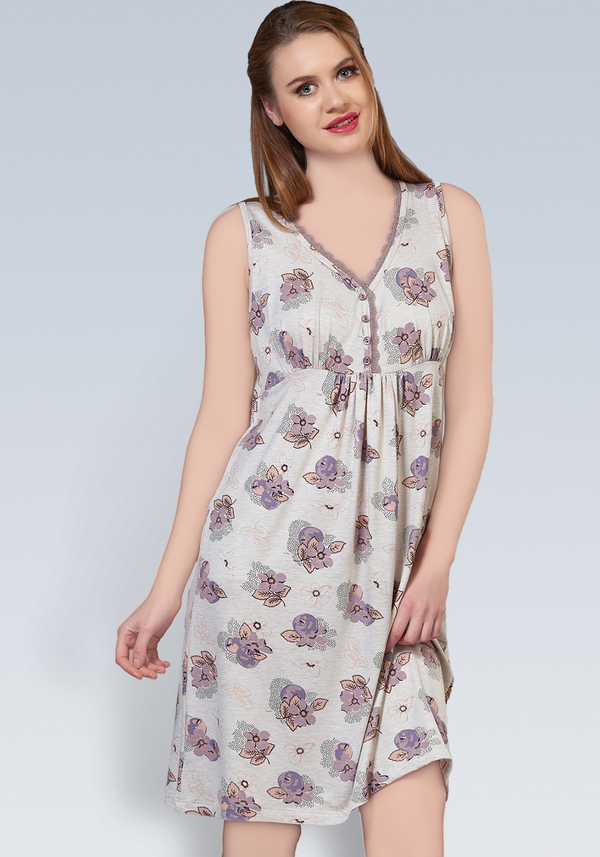 S&L Sleeveless Nighty - Layla Collection
