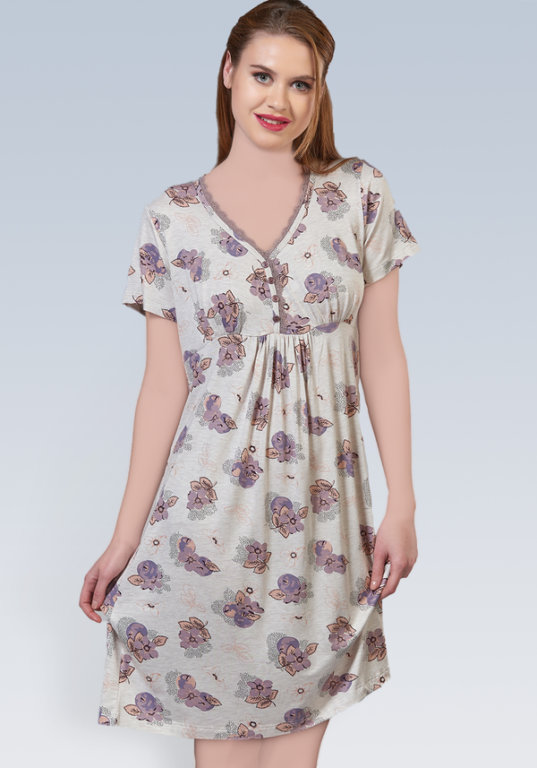 PLUS Short Sleeve Nighty - Layla Collection