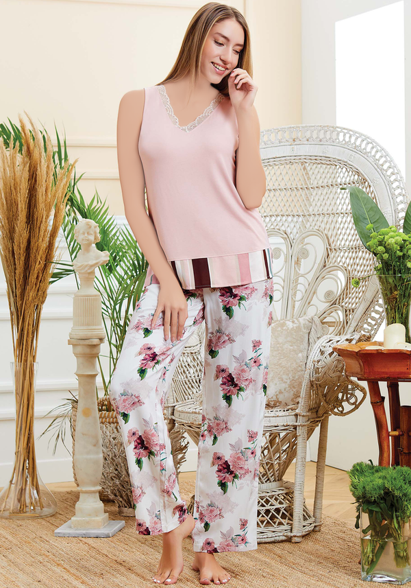 S&L Sleeveless Pajama - Layla Collection