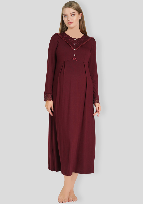 PLUS Maternal Long Sleeve Long Nighty