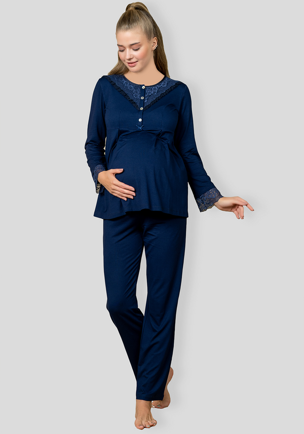 PLUS Maternal Long Sleeve Pajama