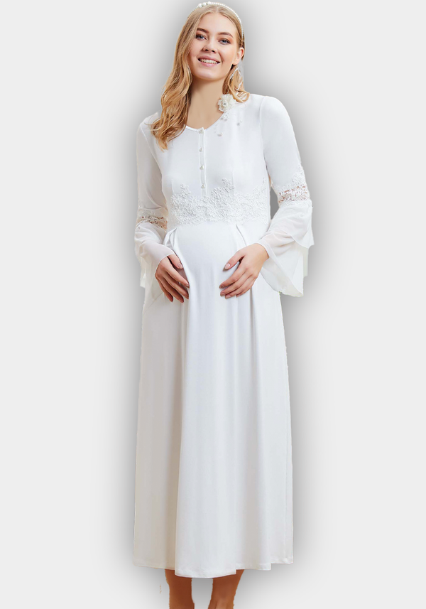 Maternal Long Sleeve Long Robe