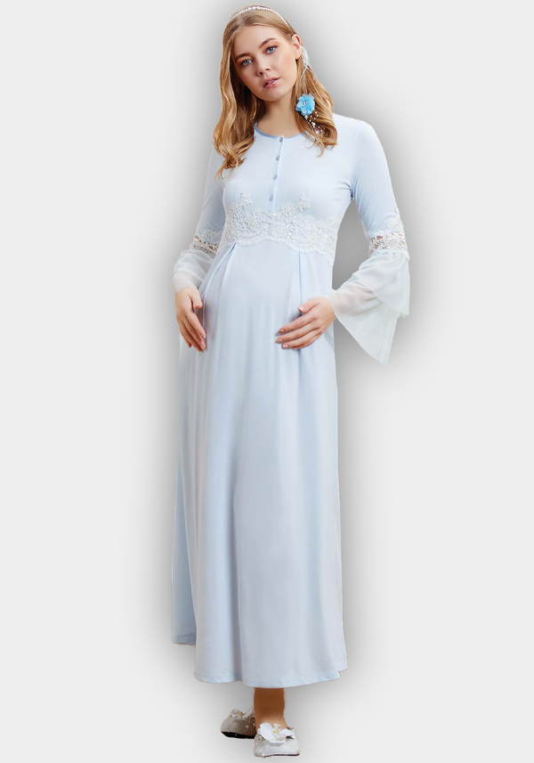 Maternal Long Sleeve Long Nighty