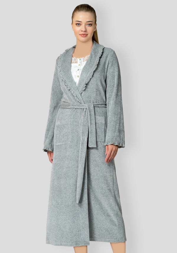 S&L Collar Button Long Sleeve Pajama