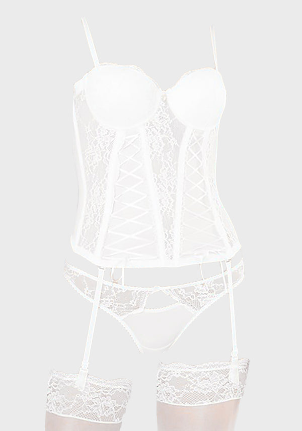 LNGR Bridal Push up Bustier Set