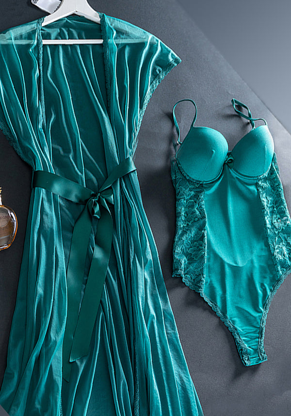 LNGR Satin Robe Set - Layla Collection