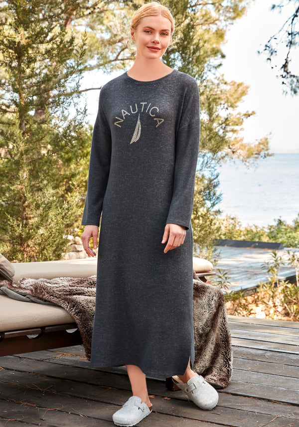 S&L Long Sleeve Long Dress