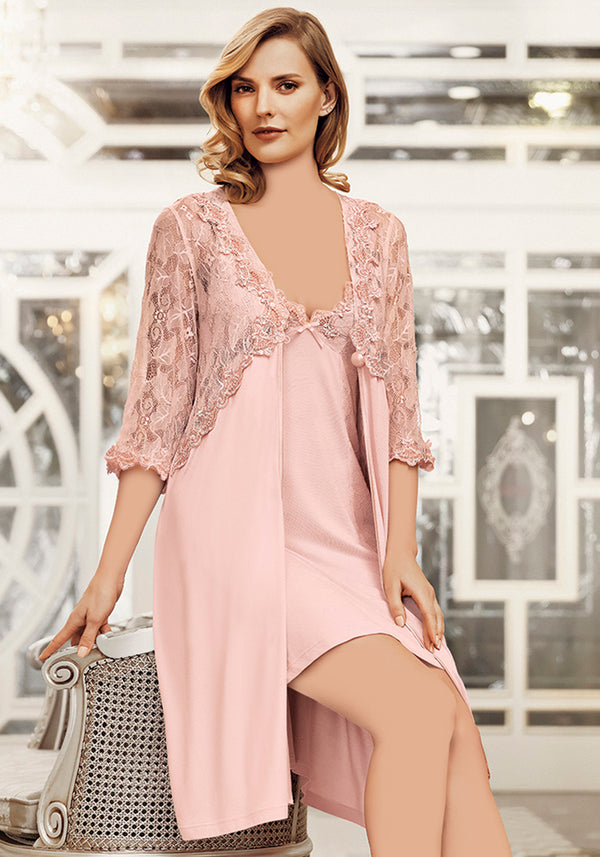 S&L Cotton Robe Set - Layla Collection