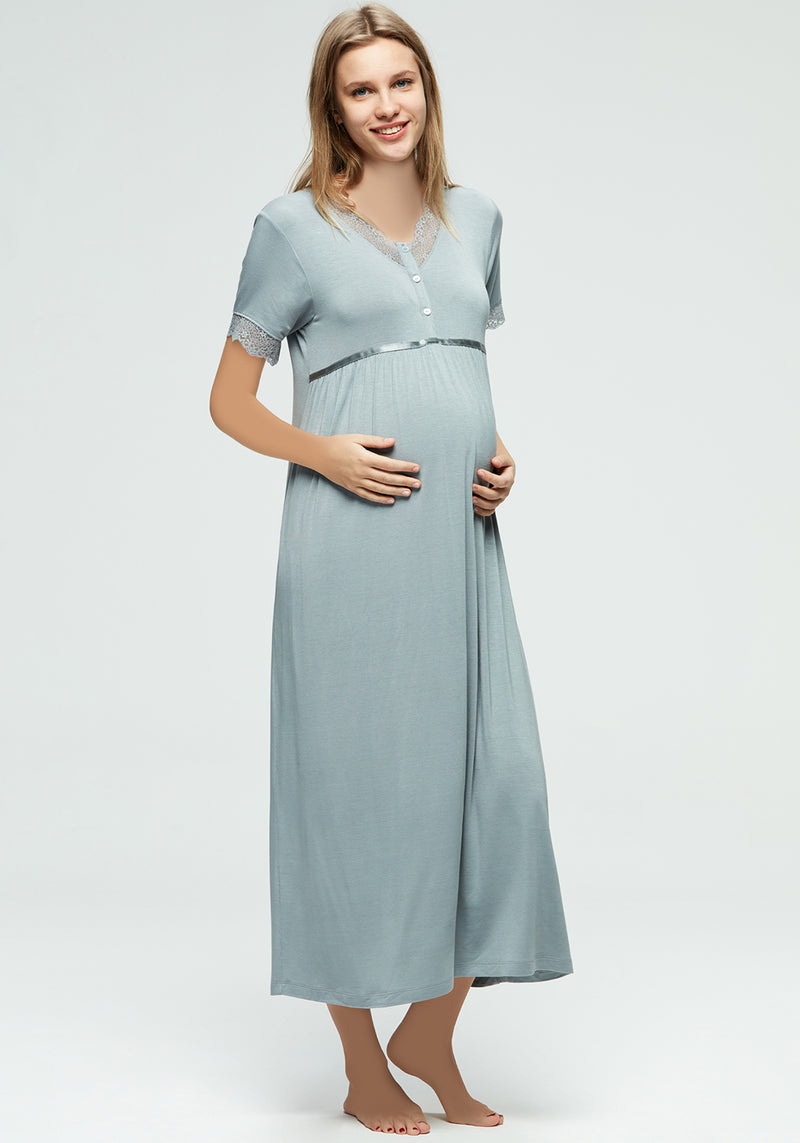 Maternal Short Sleeve Nighty - Layla Collection