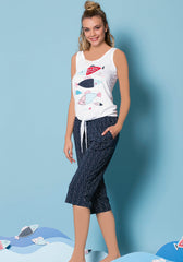 S&L Fish Capri Set