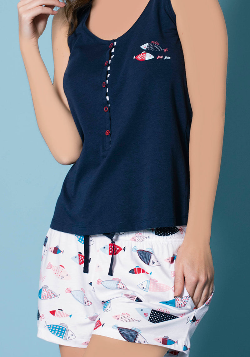 S&L Fish Short Set - Layla Collection