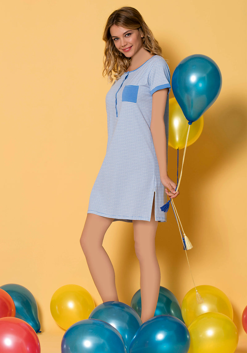 S&L Balloon Short Sleeve Nighty - Layla Collection