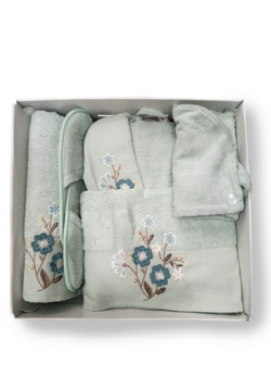 BATH 5 Piece Bathrobe Set - Layla Collection