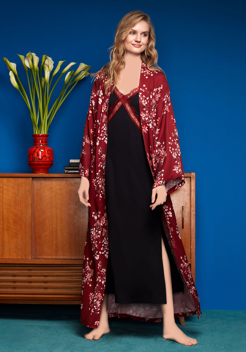 S&L Long Robe Set - Layla Collection