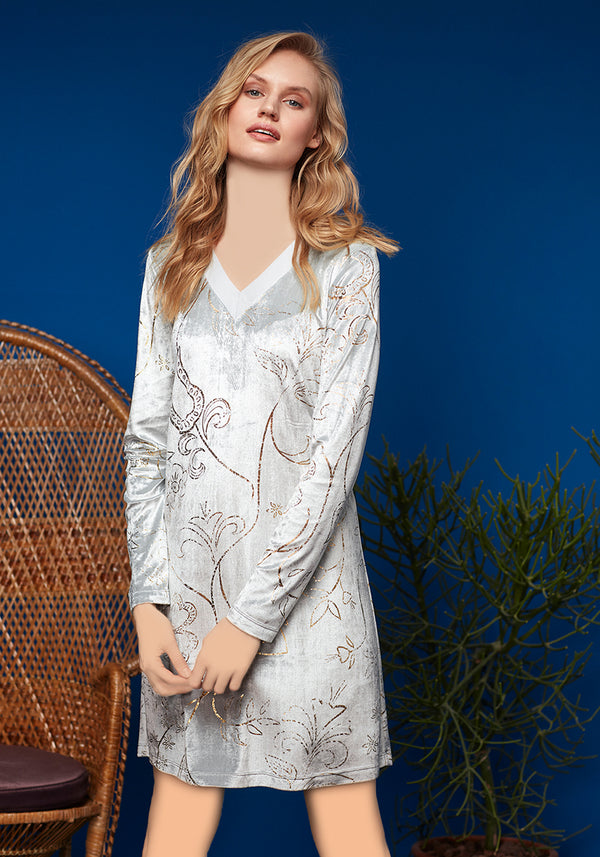 S&L Long Sleeve Nighty - Layla Collection