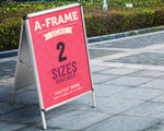 A-Frame Pavement Sign