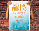 Printed Posters (A4 - A0)