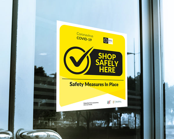Covid-19 Customer Reassurance Window Cling