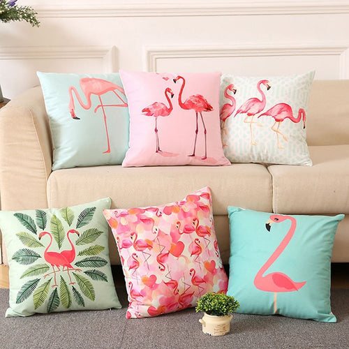 Summer Flamingo Pillow Case
