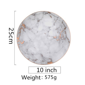 Marble Style Plates