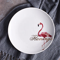 Elegant Pink Flamingo Ceramic Dinner Plates